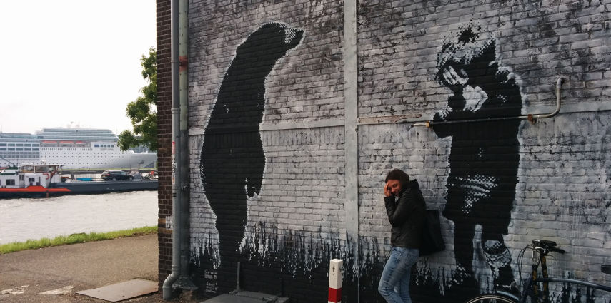 Stumble upon a bear: street art