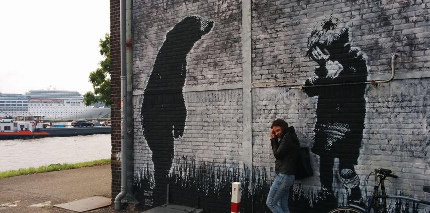 Stumble upon a bear: street art